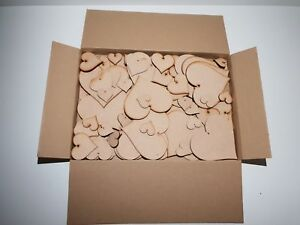 Clearance Wholesale Joblot Laser Cut Wooden MDF Love Heart Craft Shapes SF1