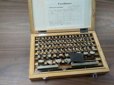 81 Pcs Precision Gage Block Set W. Certificate Grade A-3 702-g3-nc- New