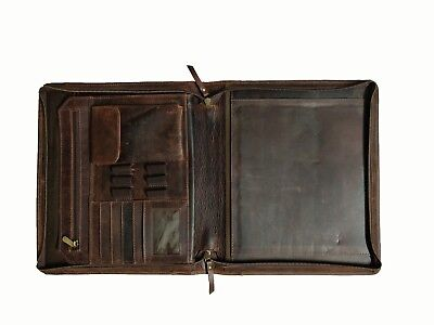 Leather Business Portfolio Padfolio Mens Organizer Folder Ca