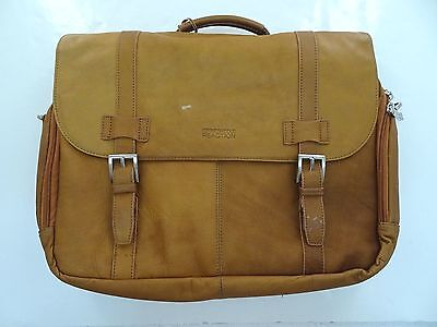NWD - Kenneth Cole Leather Briefcase Laptop Messenger Bag -