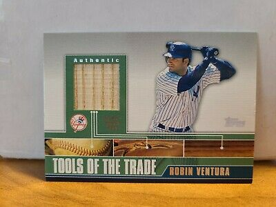 2002 ROBIN VENTURA TOPPS TOOLS OF THE TRADE GU BAT RELIC NEW YORK YANKEES