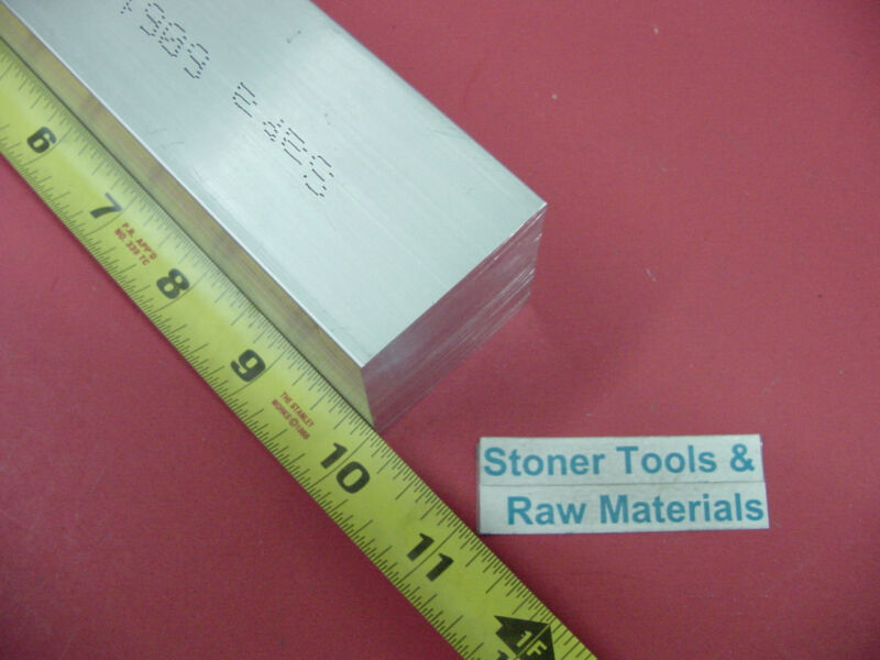 """1-3/4""""x 1-3/4"""" ALUMINUM 6061 SQUARE BAR 10"""" LONG SOLID T6511 Extruded Mill Stock"""