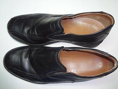 Clarks Tilden Free Slip On Leather Loafer Shoes Black 15103 Mens Size 10 M