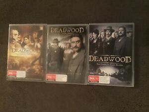 Deadwood three set Series DVD's Warragul Baw Baw Area Preview