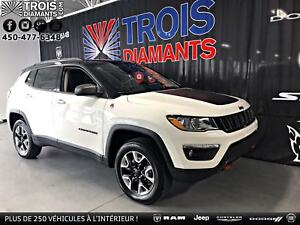 2018 JEEP COMPASS TRAILHAWK-TOIT PANO-CAMÉRA-HITCH-CARPLAY