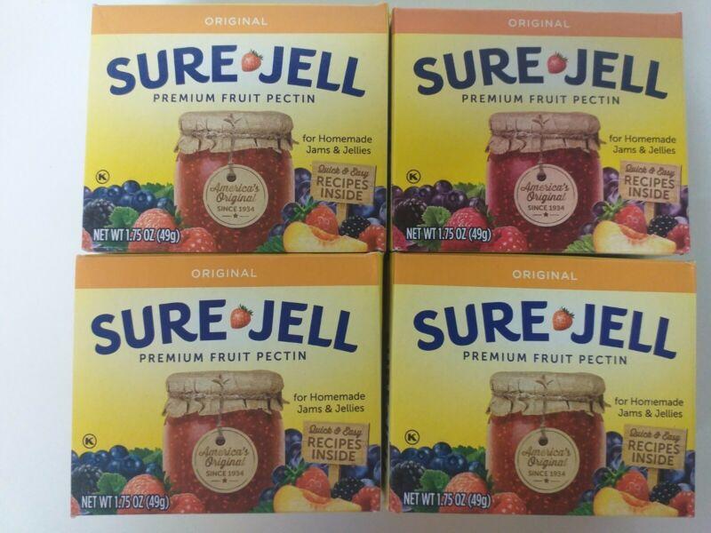 (4 Pack) SURE-JELL Original Premium Fruit Pectin - 1.75oz, exp. 05/2023
