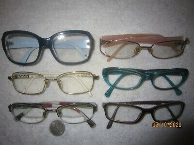 Mix Lot of 6 Chanel-Persol-Prada-Coach Eyeglasses Nurse Men Women WIDE BIG SEXY