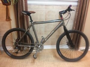 Rigid frame mountain bike