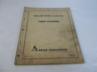 Allis-chalmers Farm Loaders Dealers Parts Catalog