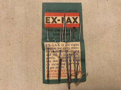 EX-LAX Chocolated Laxative Vintage Advertising Sewing Needle Pack