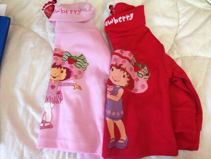Girls long sleeve strawberry shortcake tops  Croydon Burwood Area Preview