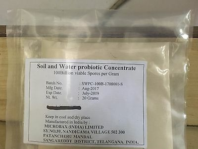 Soil And Water Probiotic Concentrate 4 Antibiotic Free Indoor Aquaculture 20 Gm