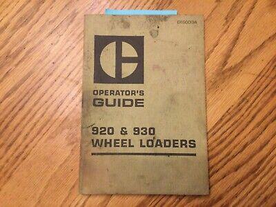 Cat Caterpillar 920 930 Operation Manual Wheel Loader Operators Guide Book
