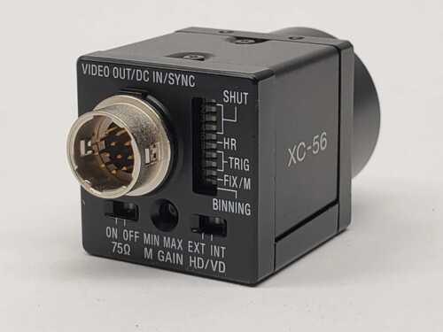 Sony XC-56 Progressive Scan CCD Video Camera Monochrome