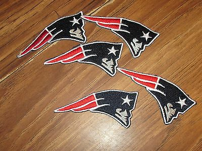LOT OF 5 NEW ENGLAND PATRIOTS LOGO PATCH 2 1/4 INCHES LONG