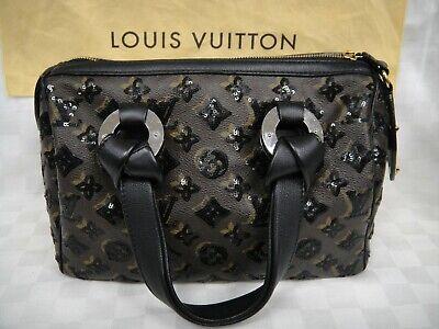 LOUIS VUITTON Speedy 30 L.E.Monogram Brown ECLIPSE Black Sequin Satchel Handbag