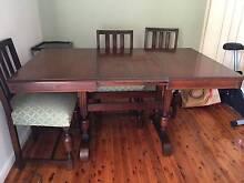 Extendable Dining Table and Chair Set - Art Deco Killara Ku-ring-gai Area Preview