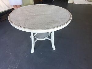 Cane Dining Table with glass top Portsea Mornington Peninsula Preview