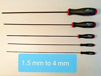 Metric Ball Driver Extra Long (Allen Key Tools) Hex Tools. Individual and Sets