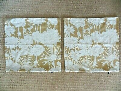 """Set Of 2 ~Rodeo Home Wheat Linen Floral Pillow Covers 20"""" Rodeohome.com"""