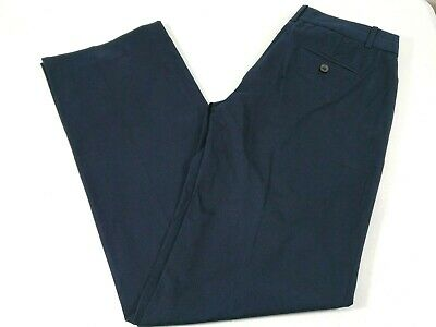 J Crew Women Cafe Trouser Flat Front Straight Leg Dress Pants Size 0 Blue New