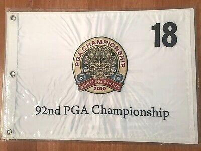 2010 PGA GOLF CHAMPIONSHIP MAJOR LOGO PIN FLAG WITH GROMMETS Embroidered Kaymer