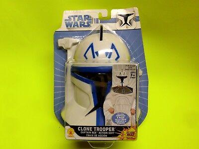 Star Wars Clone Trooper Captain Rex Halloween Costume Kids Size med 8-10 - Clone Trooper Kids Costume