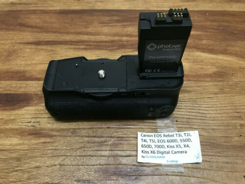 Photive Battery Grip PH-GRP550D for Canon Cameras