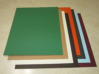 8.5 x 11 TEXTURED CARDSTOCK PAPER - COLOR ASSORTMENT #2 - LOT OF 8 SHEETS  - Cardstock Texture