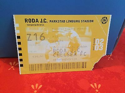Football Ticket -  UEFA - Roda JC - Chelsea FC - 2002-2003