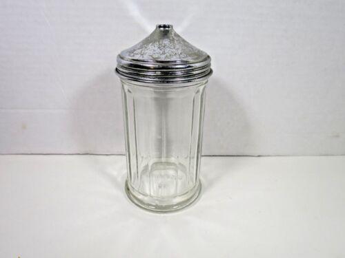 Vintage Sugar Shaker Jar Dispenser Diner Restaurant Metal  Pourer Top Muffineer