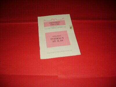Joan Sims Joan Heal Hugh Paddick 1954 UK Theatre Programme