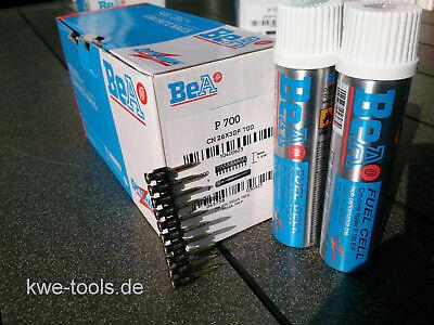 Betonnägel Stahlnägel BeA 30 mm 1000 Stück incl. Gas für Spit Pulsa 700 P/E