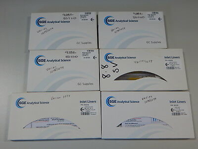 Lot Of Inlet Liners For Varian Gc Systems Pn 092018