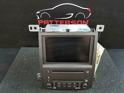 2009 CADILLAC STS AM FM STEREO NAVIGATION RADIO CD PLAYER ID# 25811104