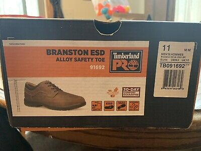 Timberland Pro Men's Branston Oxford ESD A.T. Work Shoes 91692 Brown Size 11M