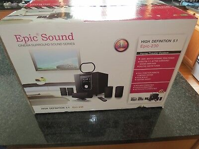 New in box epic sound 230 stereo surround sound system