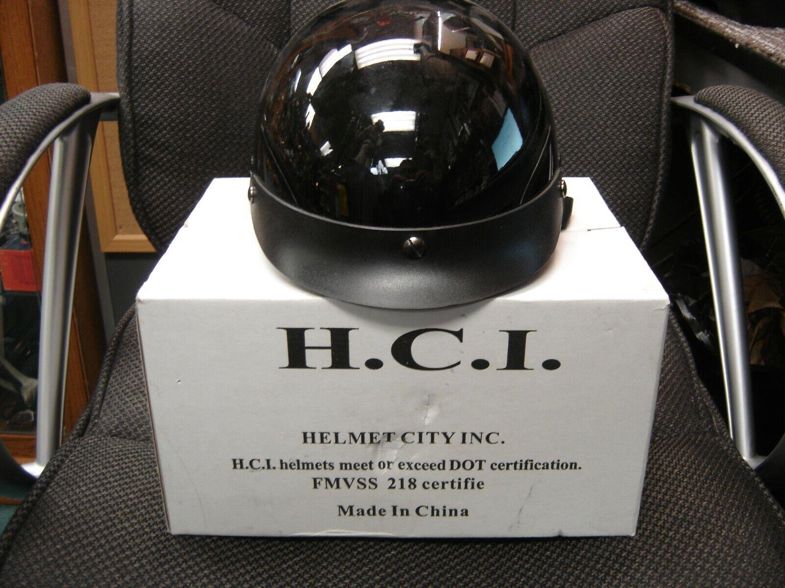HCI MOTORCYCLE HELMET-BLACK-LARGE
