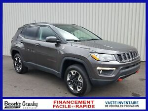 2018 Jeep Compass Trailhawk-Nav-Bluetooth-Toit Pano+