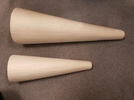 Foam polystyrene decorator cones