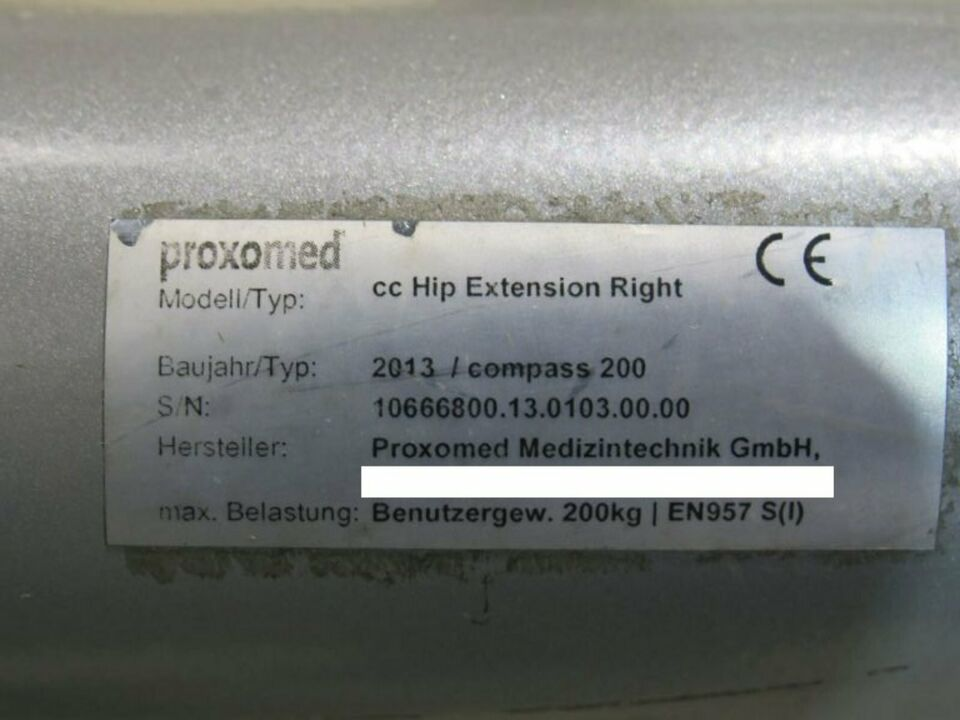 Proxomed Core Circuit compass 200 Hip Extension #31411 in Nordrhein-Westfalen - Dinslaken