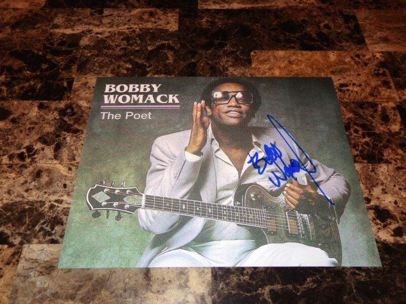 Bobby Womack Rare Signed The Poet Photo Rock & Roll Hall Of Famer Gorillaz + COA