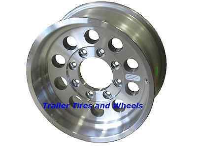 "16"" 8 Lug Mod Aluminum Trailer Wheel fifth wheel camper rv stacker gooseneck"