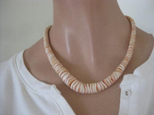 PUKA SHELLS Pink Necklace vintage Barrel closure Hawaii