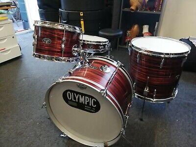 Vintage 1960's Premier Olympic drum kit Red Swirl