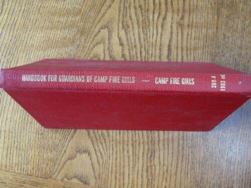 Vintage Camp Fire Girl Book Handbook for Guardians of CampFire Girls