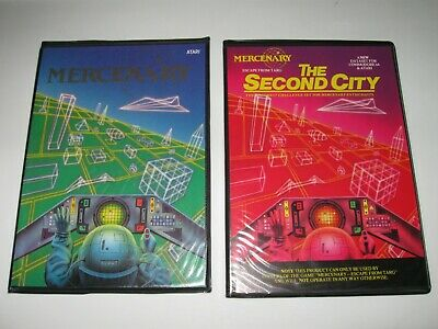 ** Atari 400/800/XL/XE Disks - Mercenary & The Second City - Excellent!  **