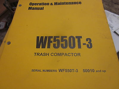 Komatsu Wf550t-3 Trash Compactor Operation Maintenance Manual Sn 50010 Up
