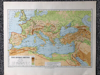 Historical Map- The Roman Empire A.D. 1 - 800 (44 X 32cm)