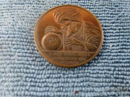 VINTAGE SWAMI ALL SEEING EYE GOOD LUCK TOKEN COIN GUARDS YOU FROM EVIL